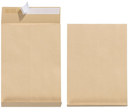 B4 Brown Envelope Peel and Seal - 50 Pcs