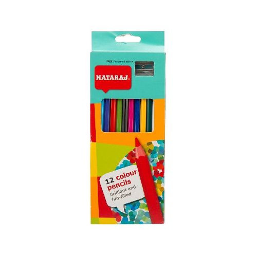 Nataraj Full Size Colour Pencils