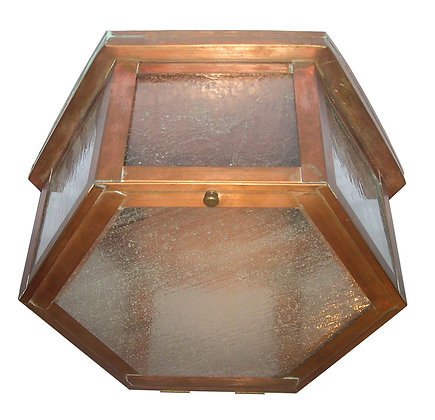 Small Hex Ceiling Light