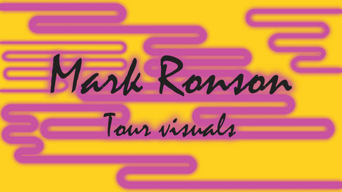 Mark Ronson NYE Tour visuals