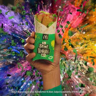 McDonalds Veggie Wrap social films