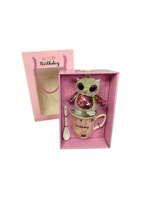 LED комплект за рожден ден с чаша и играчка