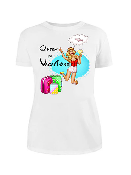 Тениска Queen of Vacation