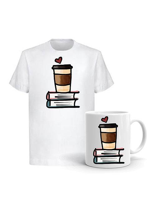 Комплект Тениска и Чаша Coffee&Books