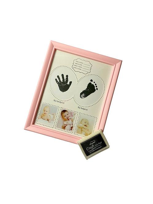 Рамка за снимка с бебешки отпечатък за момиче