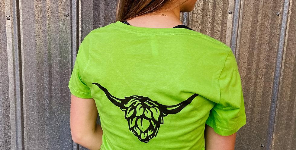 Ladies Bright Green Heilan T-Shirt