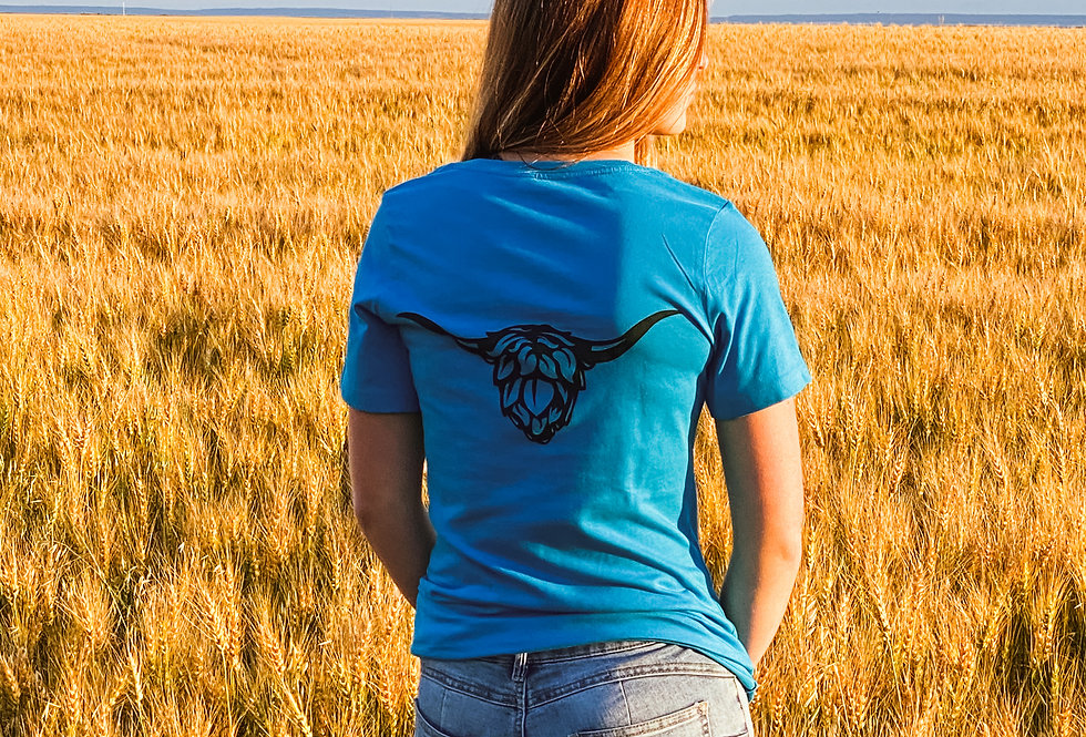 Ladies Blue Heilan T-Shirt