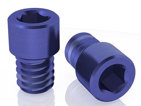 Blue Prosthetic Screws for Multi-Unit by Skvirsky Dental Solutions