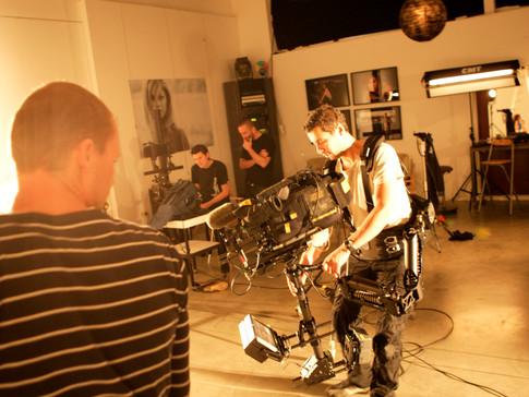 Filmen in de studio