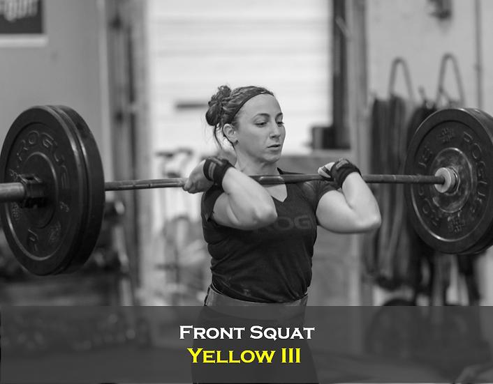 Front Squat Yellow III