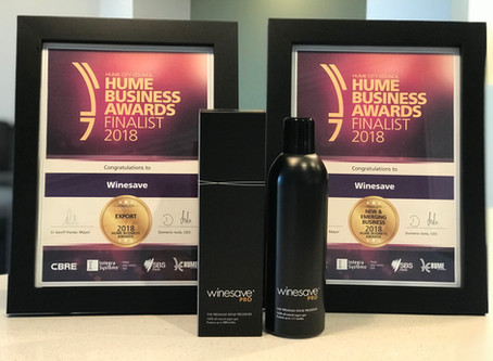 Winesave Recognised by City of Hume as a New & Emerging Business and Leading Exporter