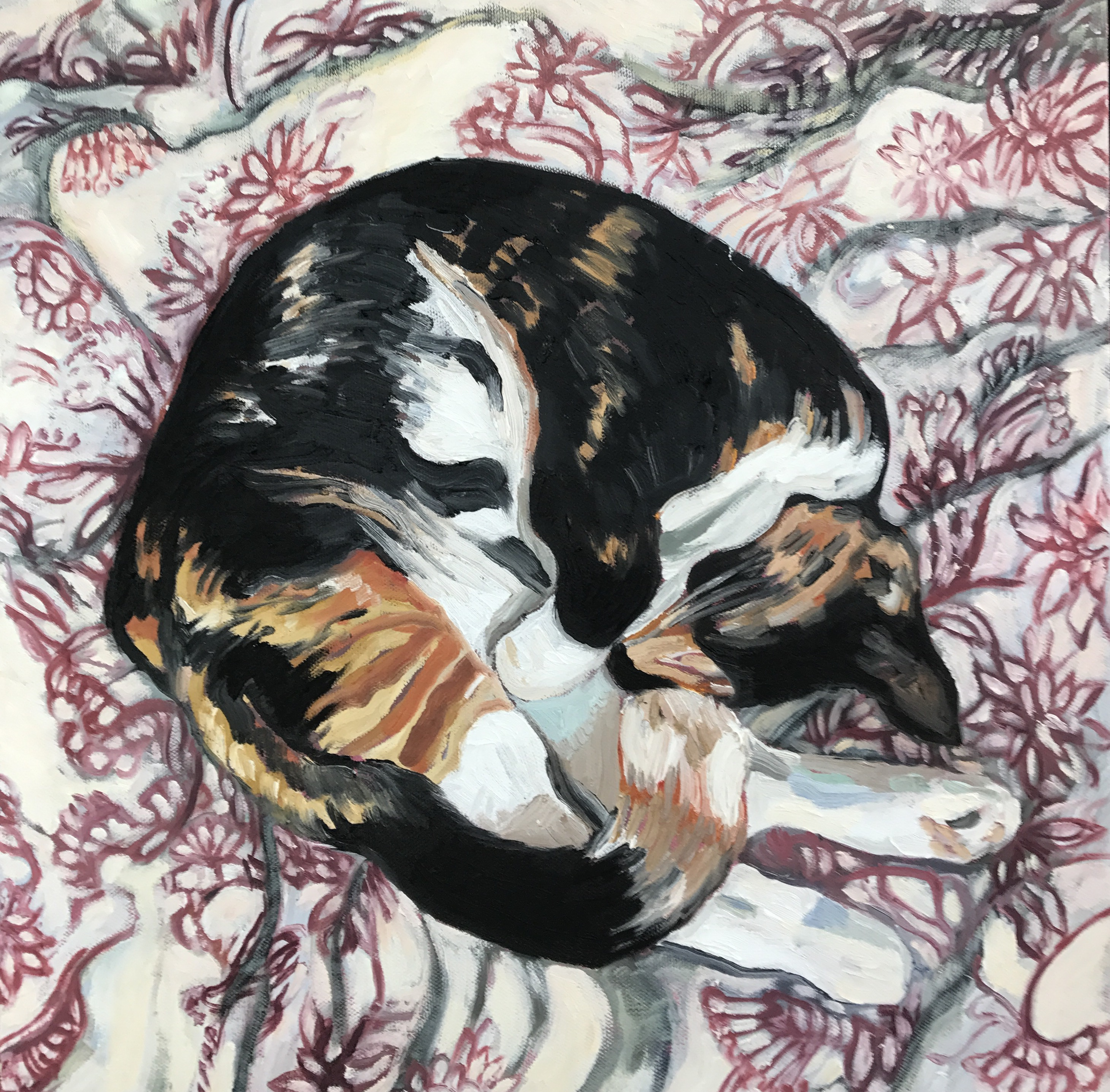 Mew with Linen Quilt Cover