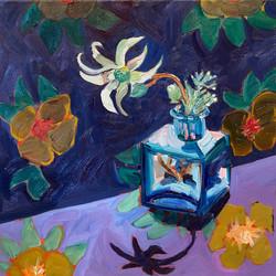 Flannel Flower and Velvet Skirt