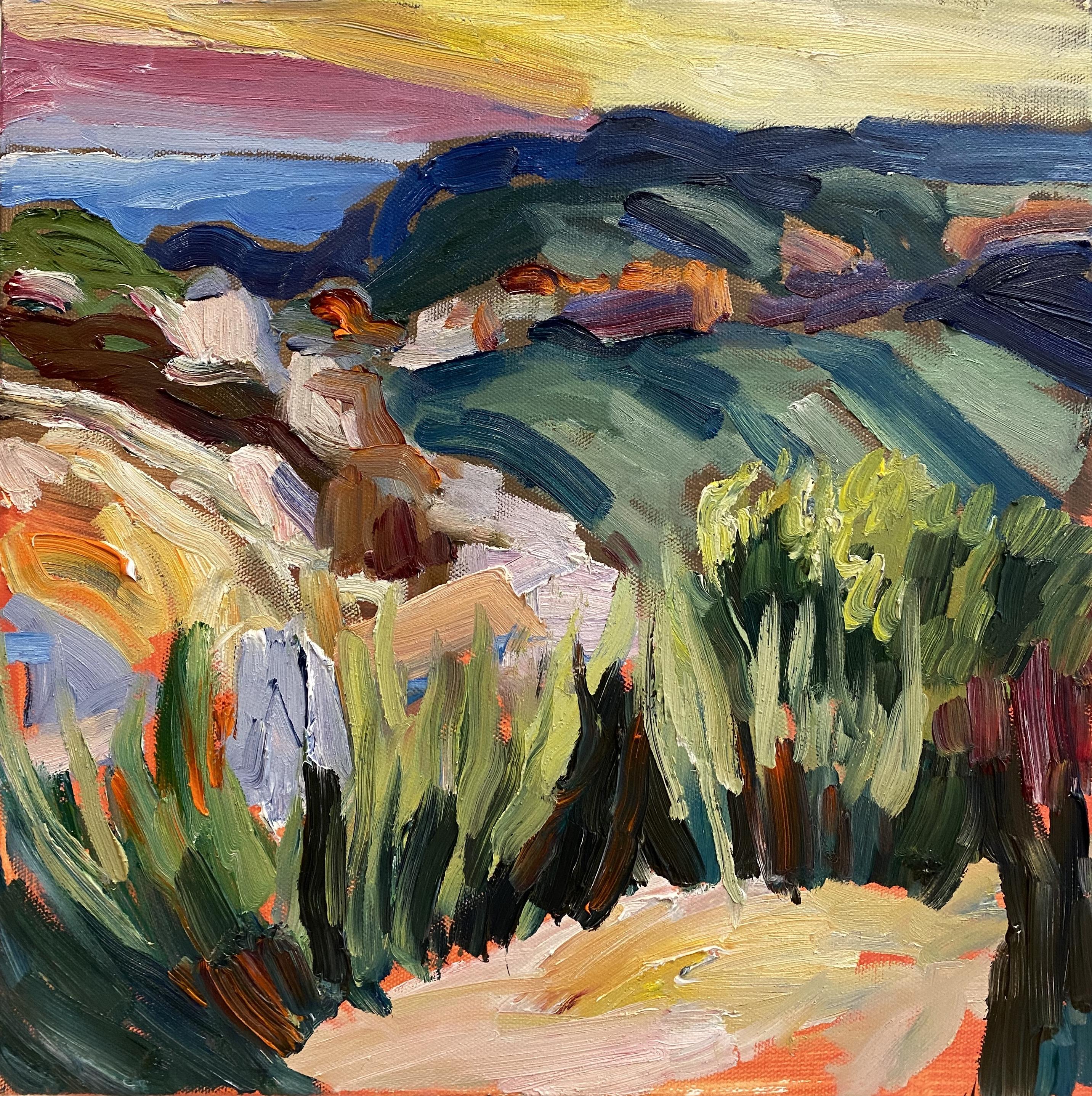 Boar's Head GrassesOil on canvas 36 x 36cm SOLD