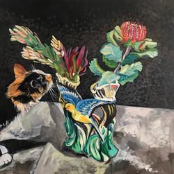 Cat Loves Flowers