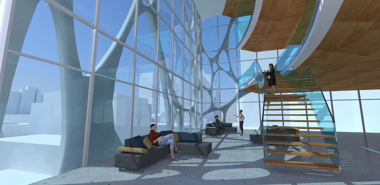 Vertical inner-city university campus