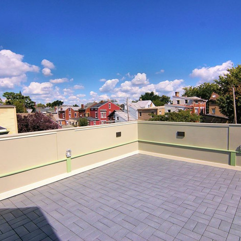 Third floor roof deck