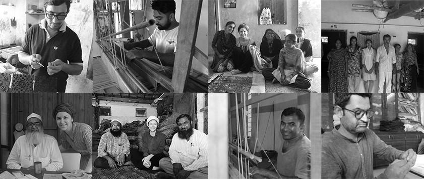 Bhilal and Indhris Khatri - Ajrakh block printers, Khavda; Haresh Hemraj Manodhiya - Weaver, Bhujodi; Devalben Maghabhai Rabari - Rabari embroideress, Loday; Ramji Punja Doriya - Mashru weaver, Godhra; Dr. Ismail Khatri - Ajrakh block printer, Ajrakhpur; Abdul Jabbar Khatri - Ajrakh block printer, Dhamadka; Damji and Chaman Vankar - Weavers, Bhujodi; Jabbar Khatri - Bandani and tie-and-dye printer, Bhuj