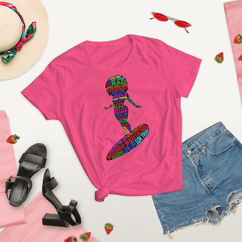 Afro Surf Chic short sleeve t-shirt