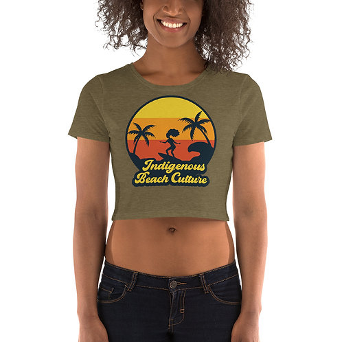 Afrocentric Surfer Chic Crop Tee