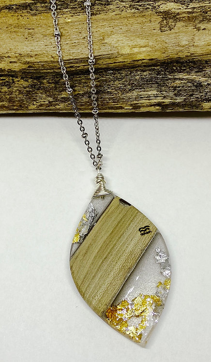 Gold and Silver Leafing Pendant