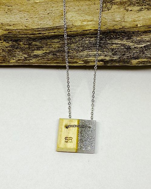 Silver Sparkle Mini Bar Pendant