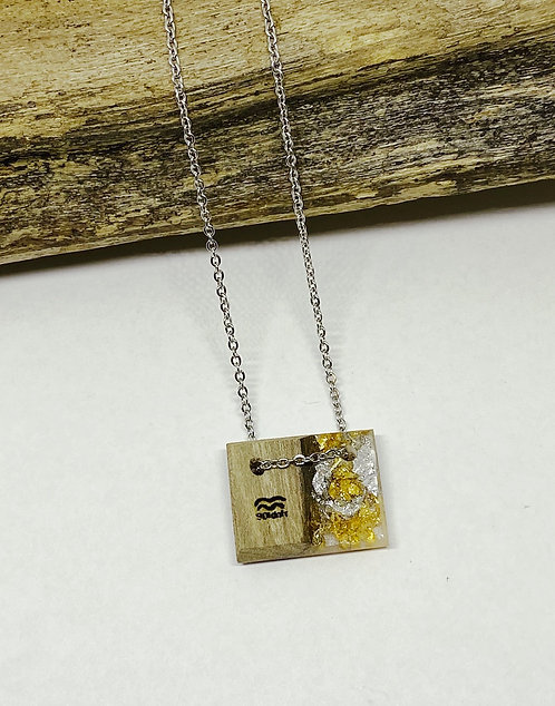 Gold and Silver Mini Bar Pendant