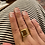 Thumbnail: Adjustable Gold Plated Square Statement Ring