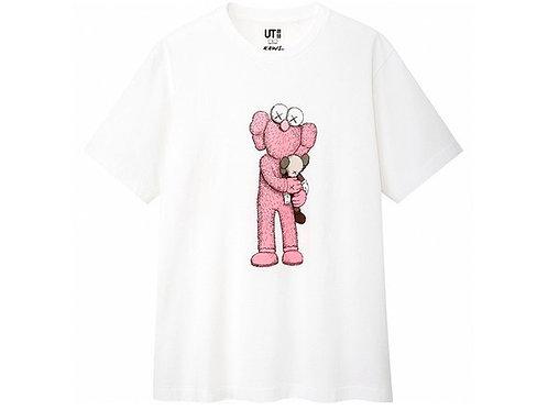 KAWS x Uniqlo Pink BFF Tee White