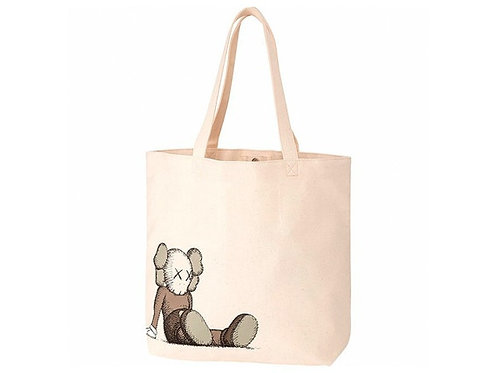 KAWS x Uniqlo Holiday Tote Bag Natural