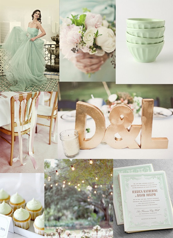 Свадьба в мятном цвете - тренды