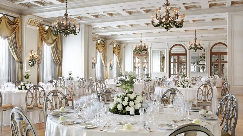Свадебный банкет в отеле в Москве