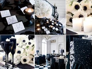Черный цвет в свадебной стилистике