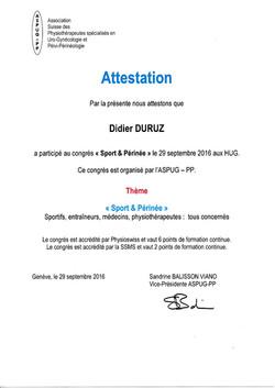 2016-Attestation congrès Sport & Périnée
