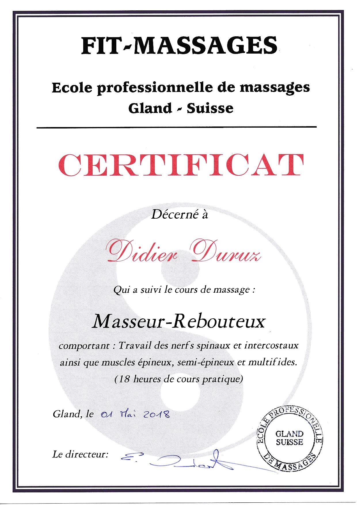 2018-Certificat Masseur-Rebouteux