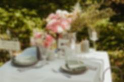 stół ślubny w plenerze