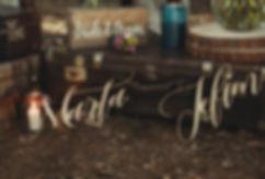 drewniane napisy ślubne
