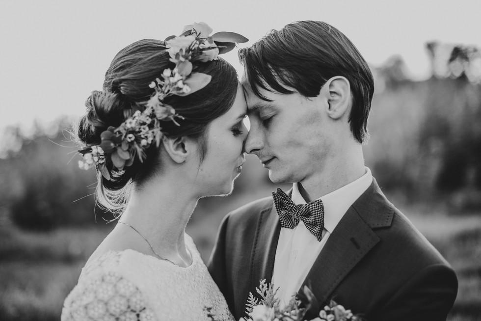 rustykalny mini plener w dniu ślubu warszawa