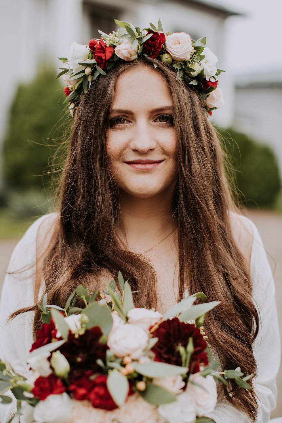 panna młoda rustykalne wesele warszawa