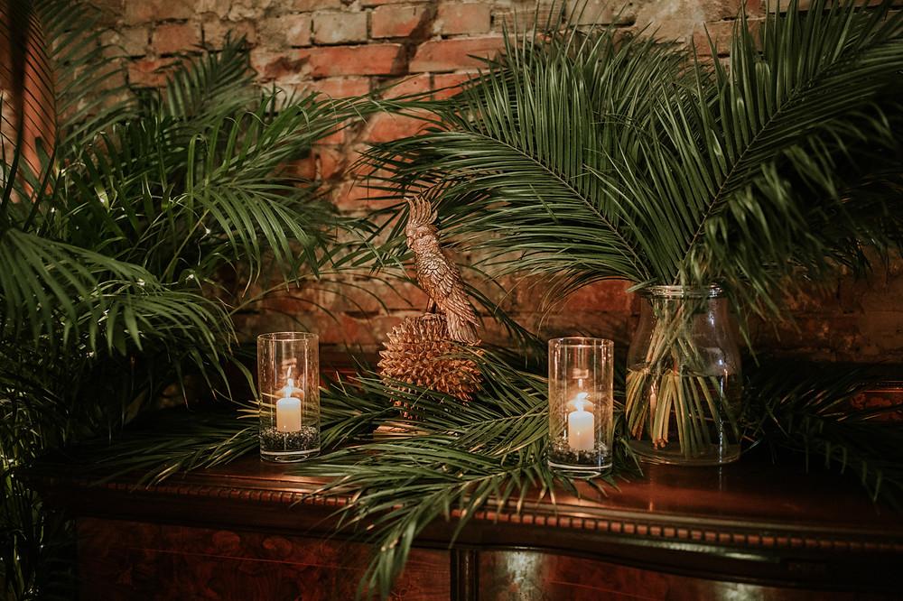 zielone dekoracje, Reduta Banku Polskiego, Izba Przyjęć, wesele, klimatyczne wesele, ślub, sala weselna warszawa