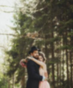 ślub w lesie