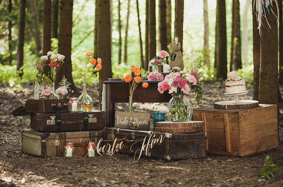 boho dekoraje ślubne