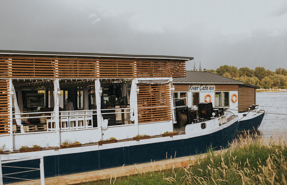 ślub river cafe warszawa, ślub na statku