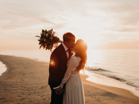 Asia & Dawid - plener ślubny nad morzem
