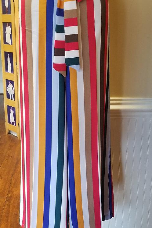 Palazzo Pants-Multi Stripes - Final Sale