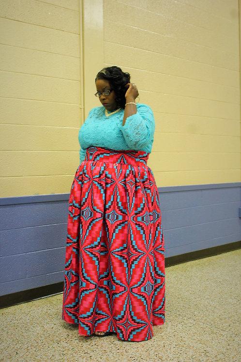 Ankara Print African Skirt-plus size
