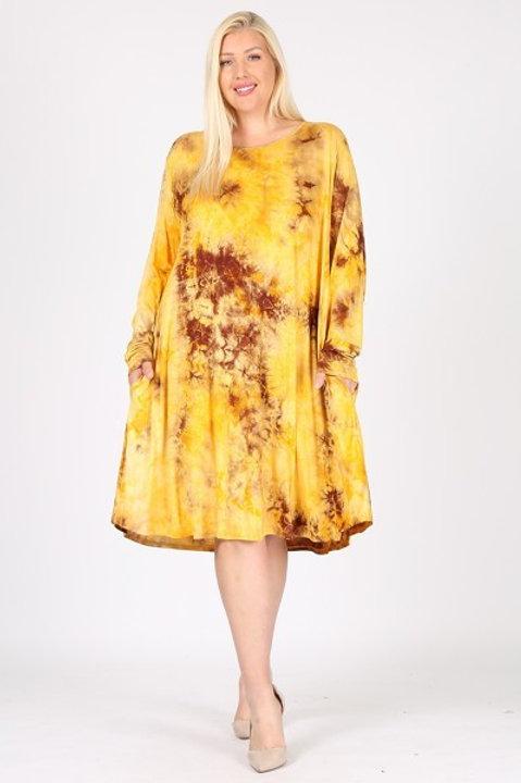 Tye-Dye Jersey Knit Dress