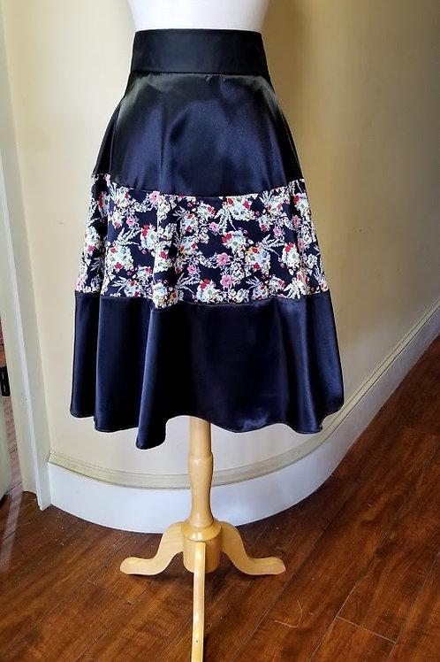 AnnaSue Color Block Skirt