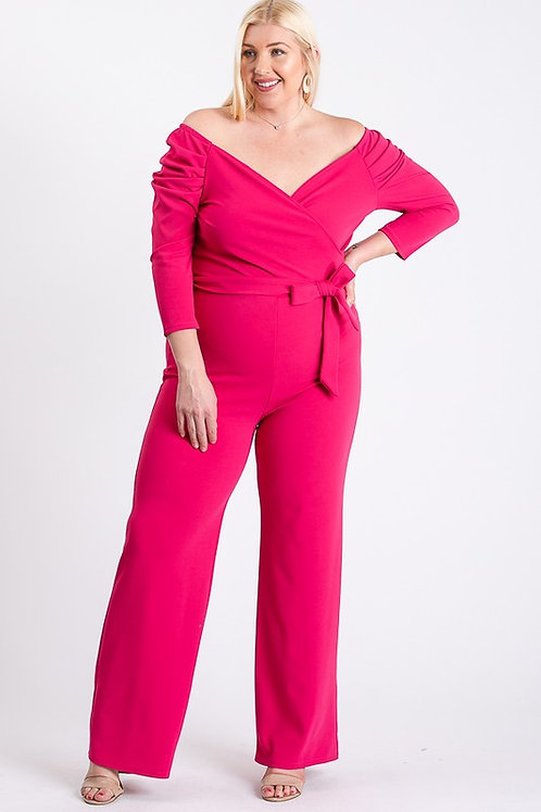 Cold Shoulder Curvy Plus Jumpsuit