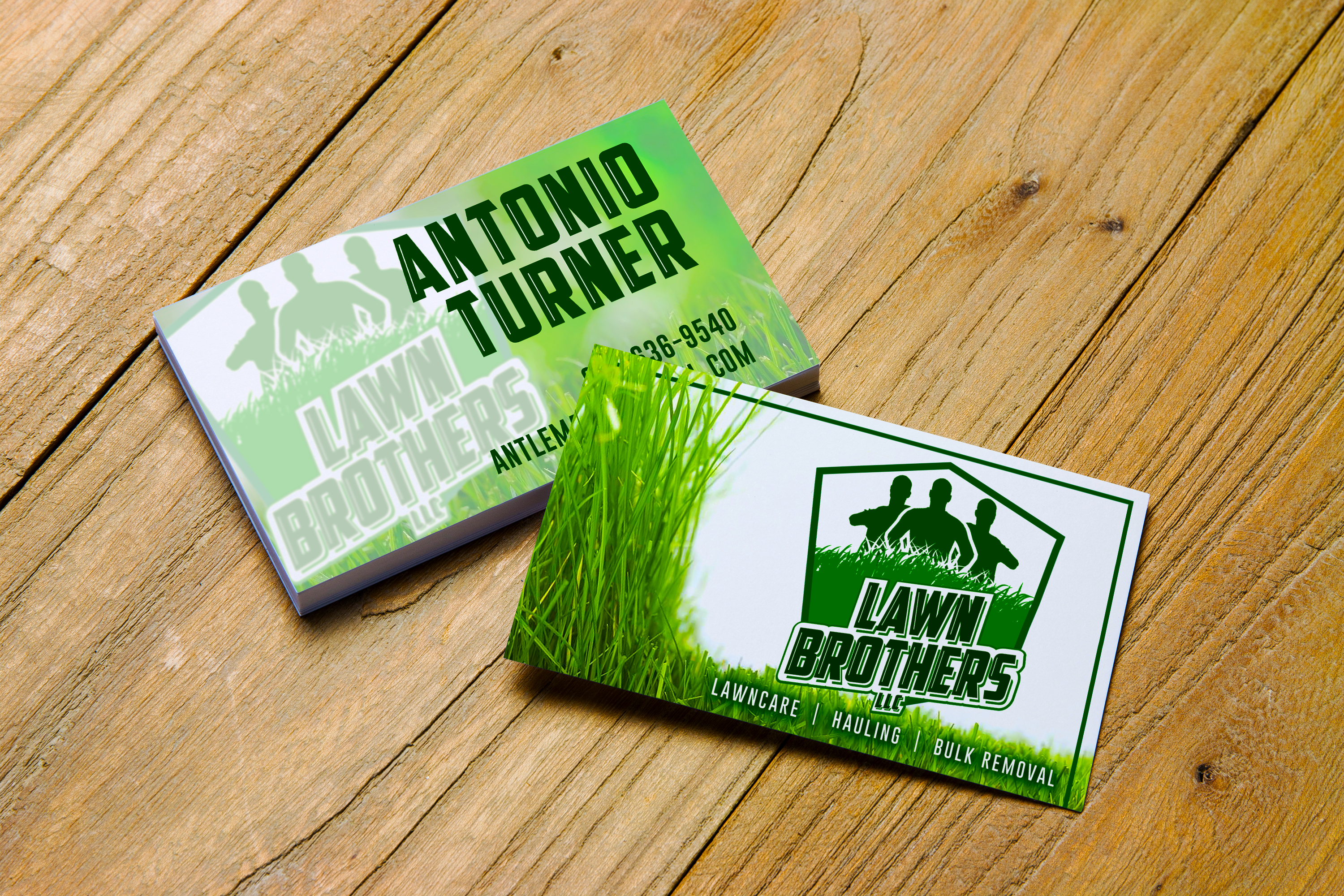 Lawn Brothers Business Cards